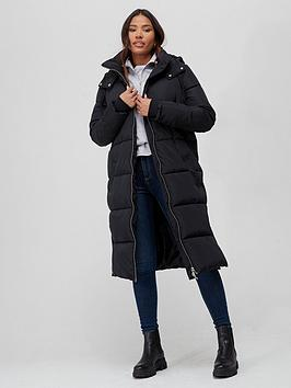 v-by-very-sustainable-long-padded-coat-black