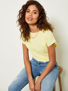 mint-velvet-bow-back-cotton-t-shirt-yellownbsp