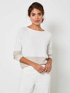 mint-velvet-sequined-jumper-whitebeigenbsp