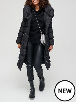 v-by-very-shawl-collar-shower-resistant-padded-coat-black