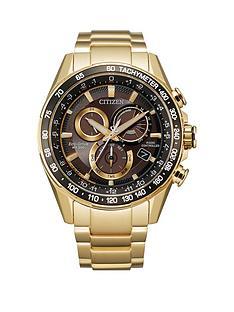 citizen-citizen-calibre-6600-black-43mm-chronograph-dial-gold-tone-stainless-steel-mens-watch