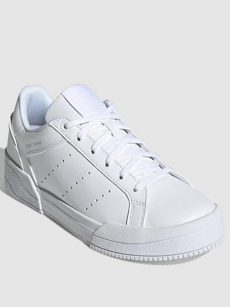 adidas-originals-unisex-junior-court-tourino-trainers-triple-white