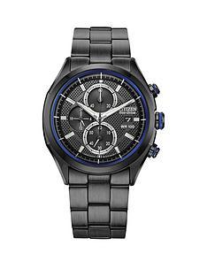 citizen-citizen-calibre-b612-black-chronograph-dial-blue-detailing-black-bracelet-mens-watch