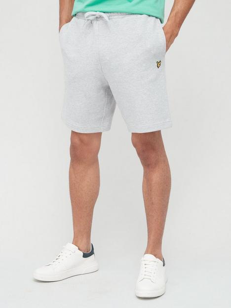 lyle-scott-sweat-short-light-grey-marl