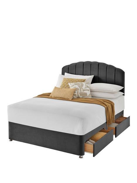 silentnight-velvet-base-only-velvet-divan-bed-with-storage-options-headboard-not-included