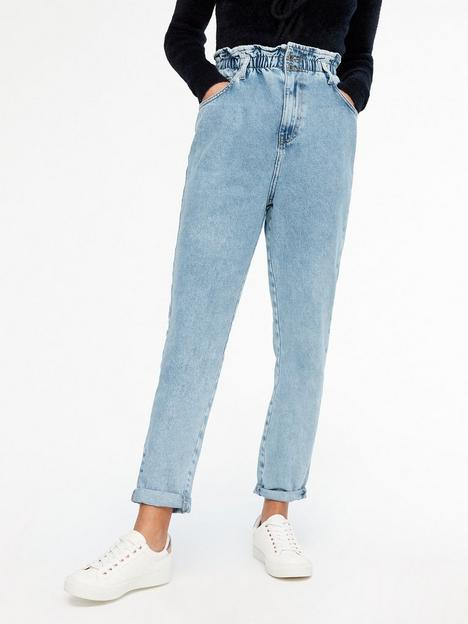 new-look-elasticated-high-waist-dayna-tapered-jeans-blue
