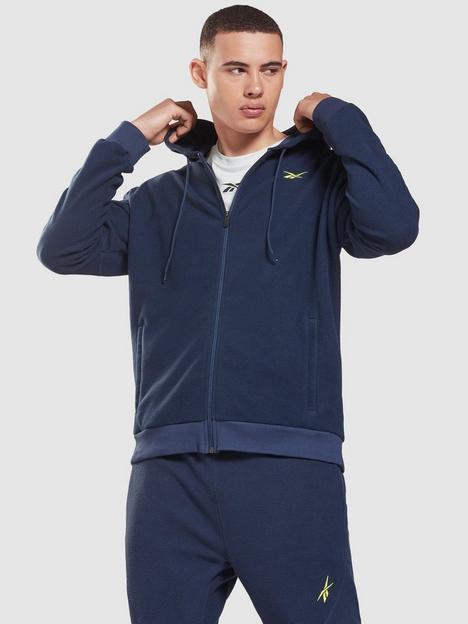 reebok-workout-ready-fleece-full-zip-hoodie-navy