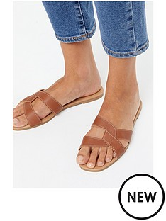 new-look-flat-sandal-tan