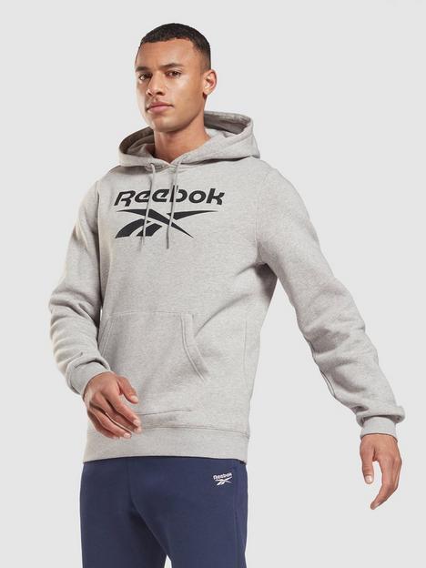 reebok-fleece-pullover-big-logo-hoodie-greyblack