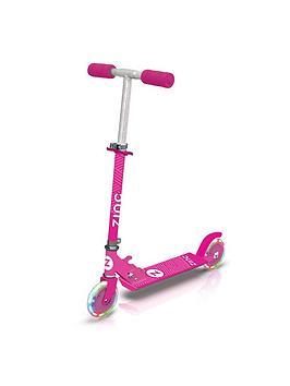 zinc-zinc-two-wheeled-folding-light-up-flash-scooter-pink