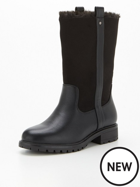 v-by-very-wide-fit-faux-fur-lined-calf-boot-black