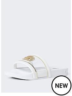 river-island-girls-vinyl-sliders-white