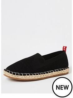 river-island-boysnbspmcmlx-knitted-espadrille-sandals-black