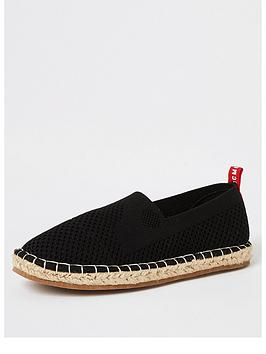 river-island-boysnbspmcmlx-knitted-espadrille-sandals-black