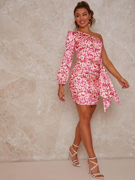 chi-chi-london-one-shoulder-floral-print-mini-dress-multinbsp