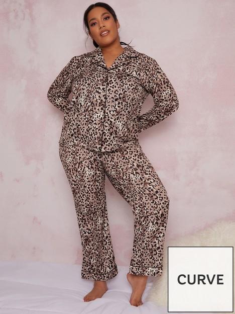 chi-chi-london-curve-deana-pyjama-set-brown