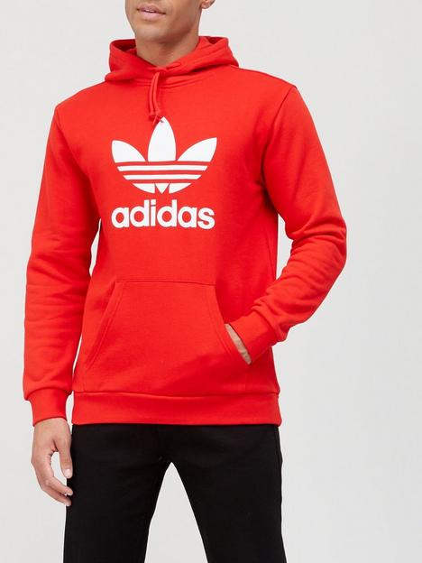 adidas-originals-trefoil-hoodie-redwhite