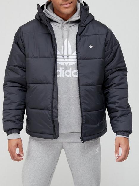 adidas-originals-side-stripe-quilted-hoodednbspjacket-black