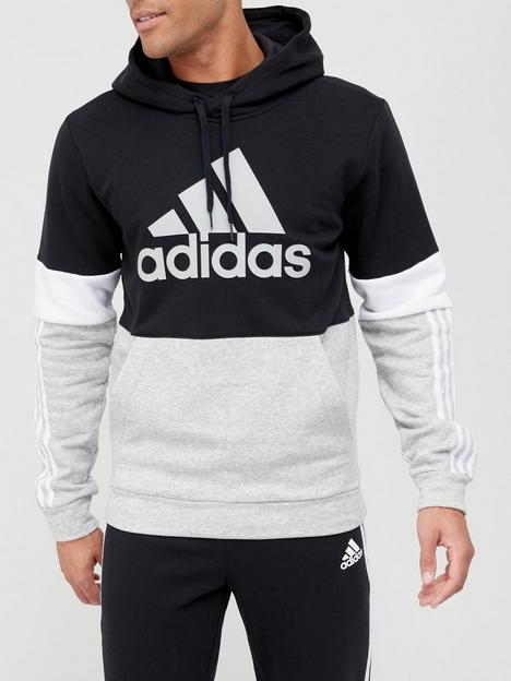 adidas-colourblock-hoodie-blackwhite