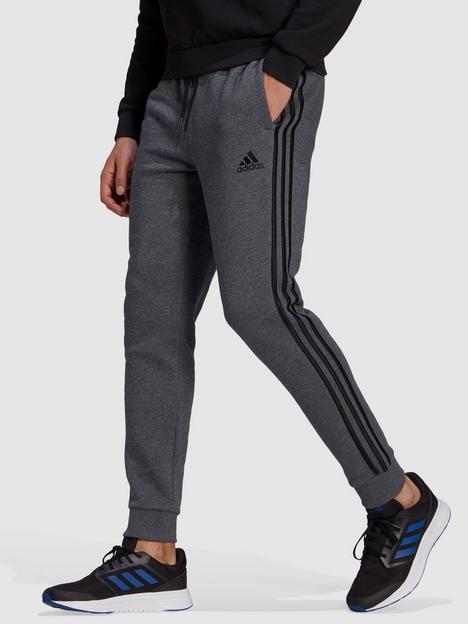 adidas-3-stripe-fleecenbsppants-greyblack