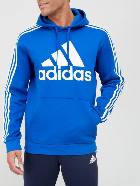adidas-big-badge-of-sportnbsp3-stripe-fleece-hoodie-bluewhite
