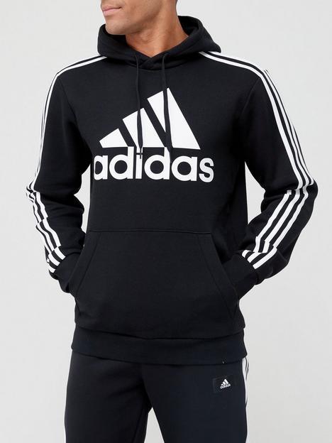 adidas-big-badge-of-sportnbsp3-stripe-fleece-hoodie-blackwhite