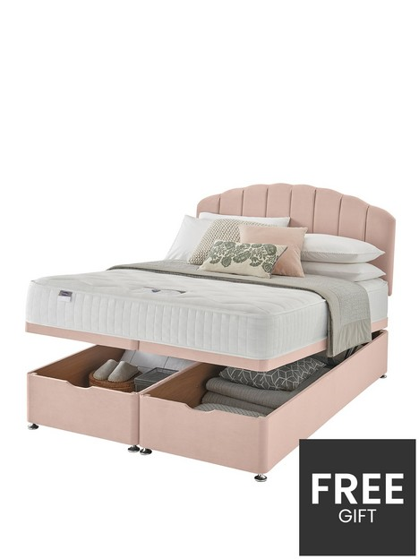 silentnight-ava-memory-1000-pocket-velvet-ottoman-storage-bed-headboard-included