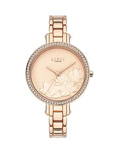 lipsy-lipsy-gold-floral-tone-dial-stainless-steel-bracelet-watch