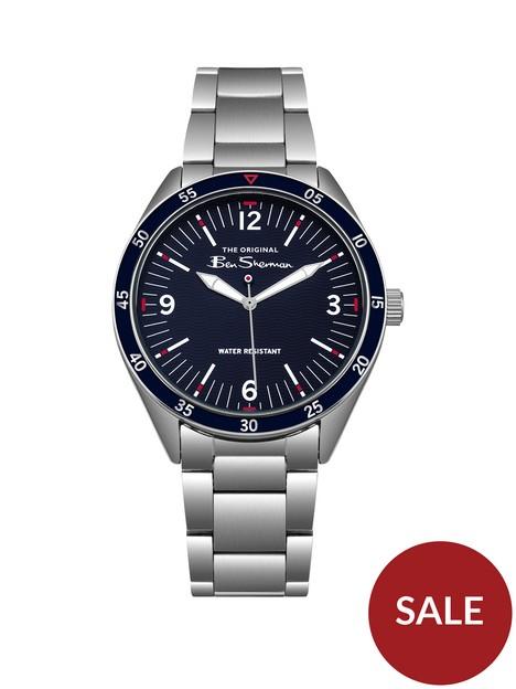 ben-sherman-ben-sherman-blue-dial-red-accents-stainless-steel-bracelet-watch