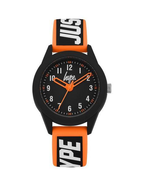 hype-black-orange-logo-kids-watch