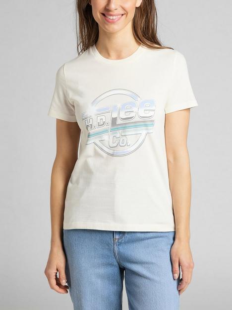 lee-logo-tee-white