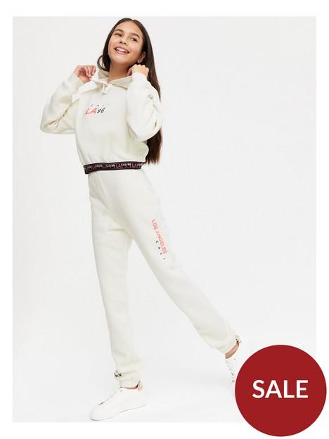 new-look-915-girls-la-waistband-cuffed-jogger-white