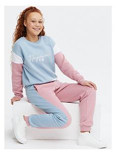 new-look-happiness-pastel-colourblock-cuffednbspjoggers-blue