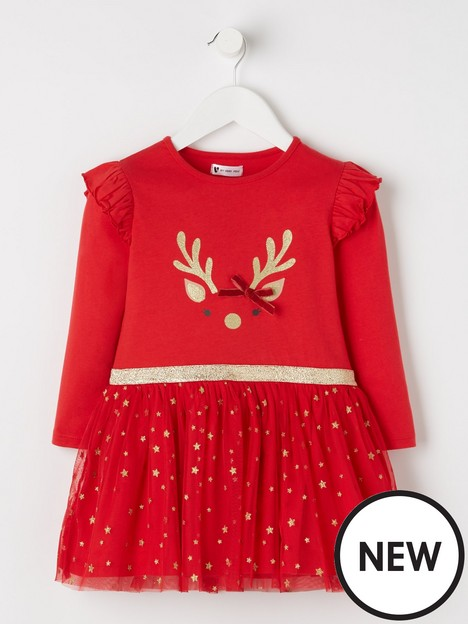 mini-v-by-very-girls-reindeer-two-in-one-mesh-dress-red