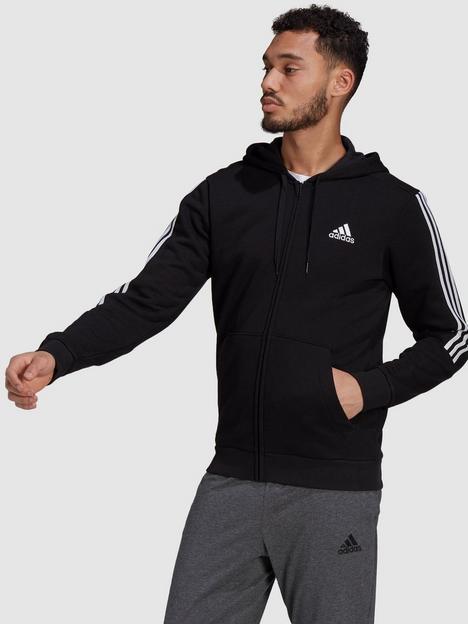 adidas-plus-size-cut-3-stripe-zip-hoodie-blackwhite