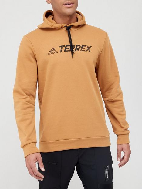 adidas-terrex-logo-hoodie-brown