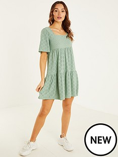 quiz-broderie-anglaise-tiered-smock-dress-sage