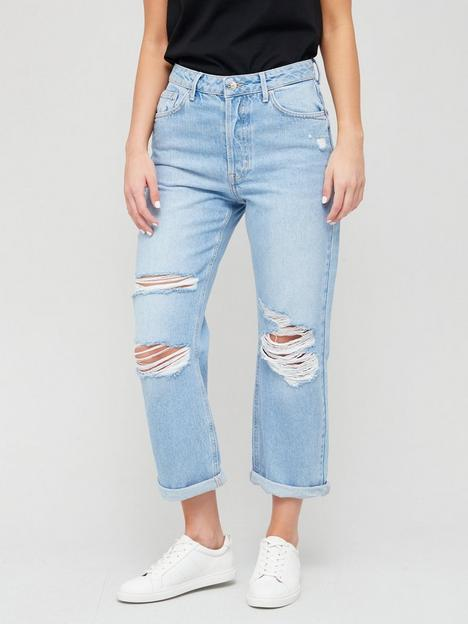 v-by-very-boyfriend-high-waist-jean-with-rips-light-wash