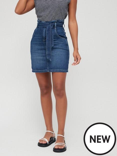 v-by-very-paperbag-waist-belted-denim-skirt-mid-washnbsp