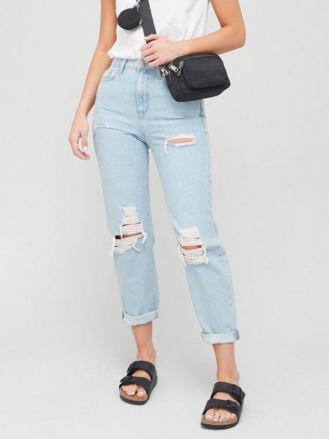 v-by-very-mom-high-waist-jean-with-rips-lightnbspwash