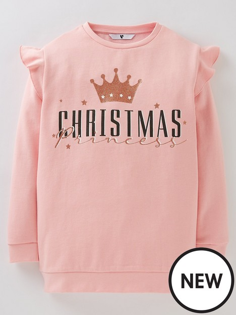 v-by-very-girls-christmas-princess-sweat-top-pink