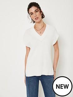mint-velvet-v-neck-knitted-vest-off-white
