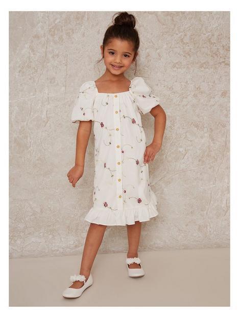 chi-chi-london-girls-floral-button-thru-midi-dress-white