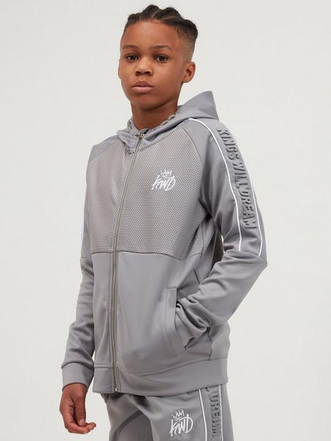 kings-will-dream-junior-gridlon-zip-through-hoodie-light-grey