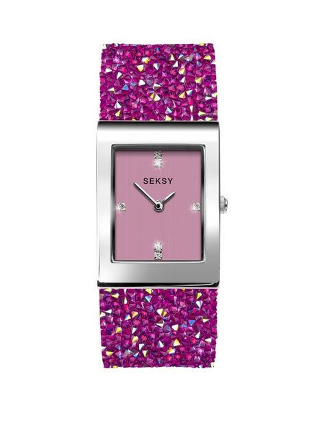 seksy-seksy-rocks-pink-tank-dial-pink-rocks-strap-ladies-watch