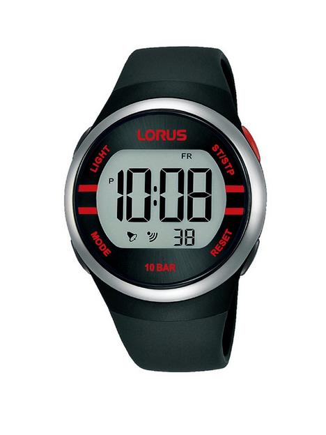 lorus-digital-black-strap-watch