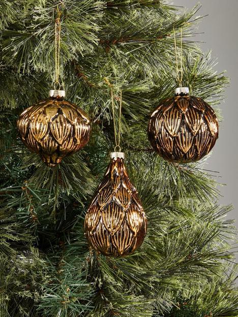 festive-set-of-3-gold-and-black-layered-leaf-baubles