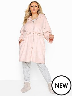 yours-clipped-star-zip-hooded-robe
