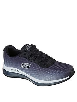 skechers-skech--air-element-ombre-mesh-lace-up-wide-fit-trainers-blackwhite