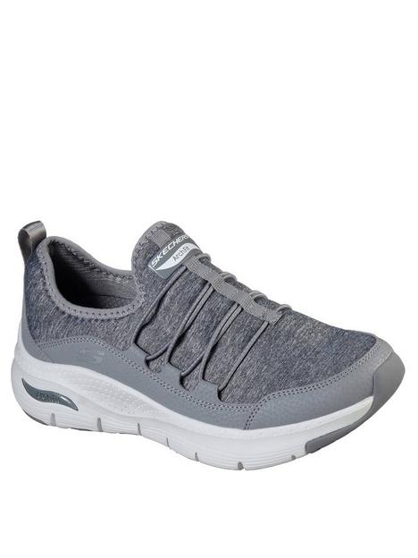 skechers-arch-fit-jersey-bungee-slip-on-wide-fit-trainers-grey